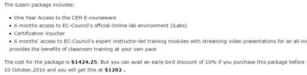 CEH(道德黑客)认证培训课程(1)课程体系-价值1400美金